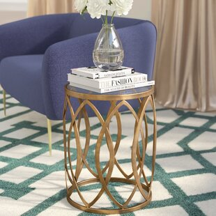 Willa Arlo Interiors Crewkerne Metal Eyelet End Table