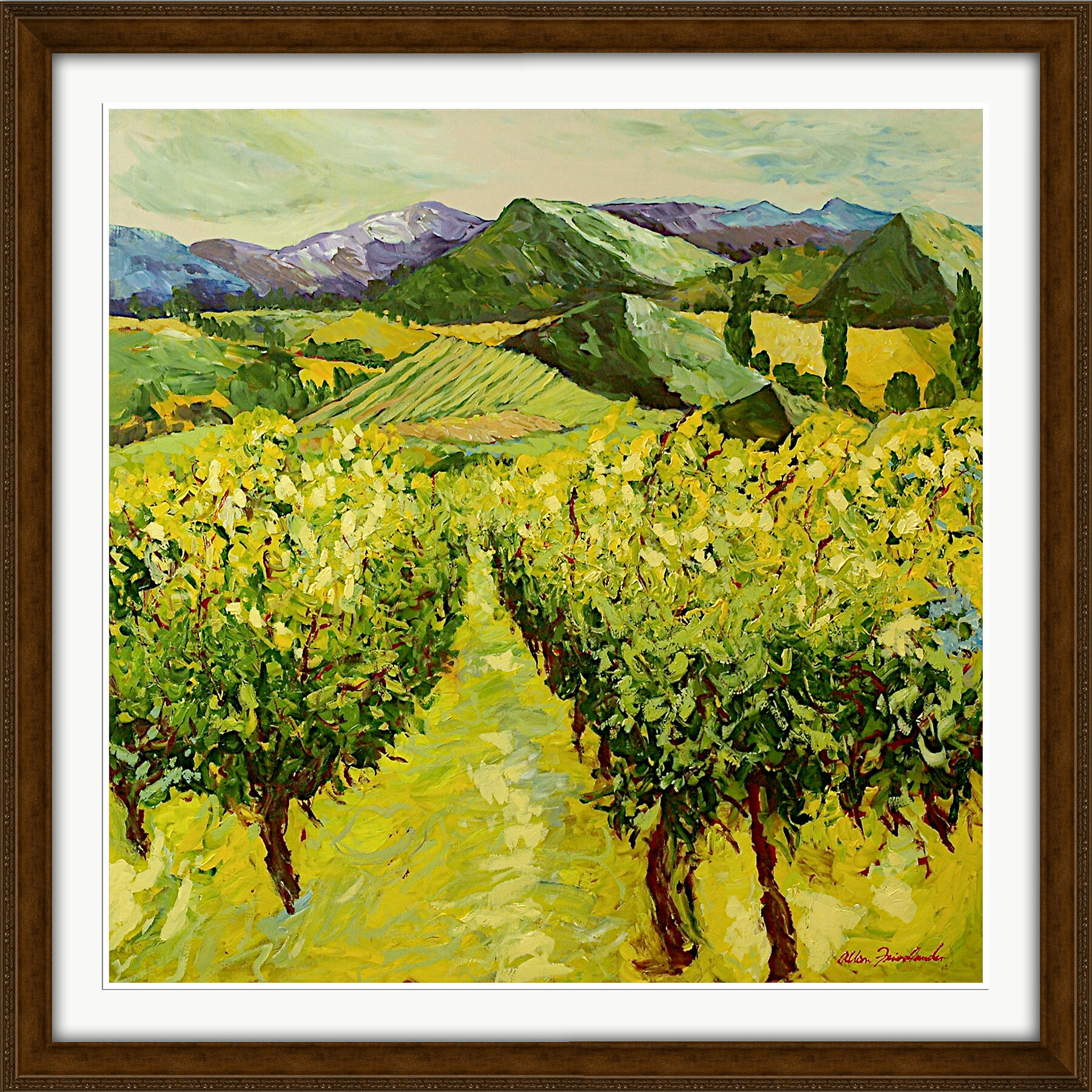 PTM Images Tranquil Fields Framed Painting Print | Wayfair