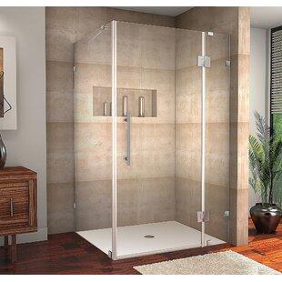 Avalux 36 x 72 Hinged Frameless Shower Door by Aston