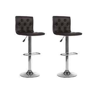 Coupon Adjustable Height Swivel Bar Stool (Set of 2) By Winport Industries