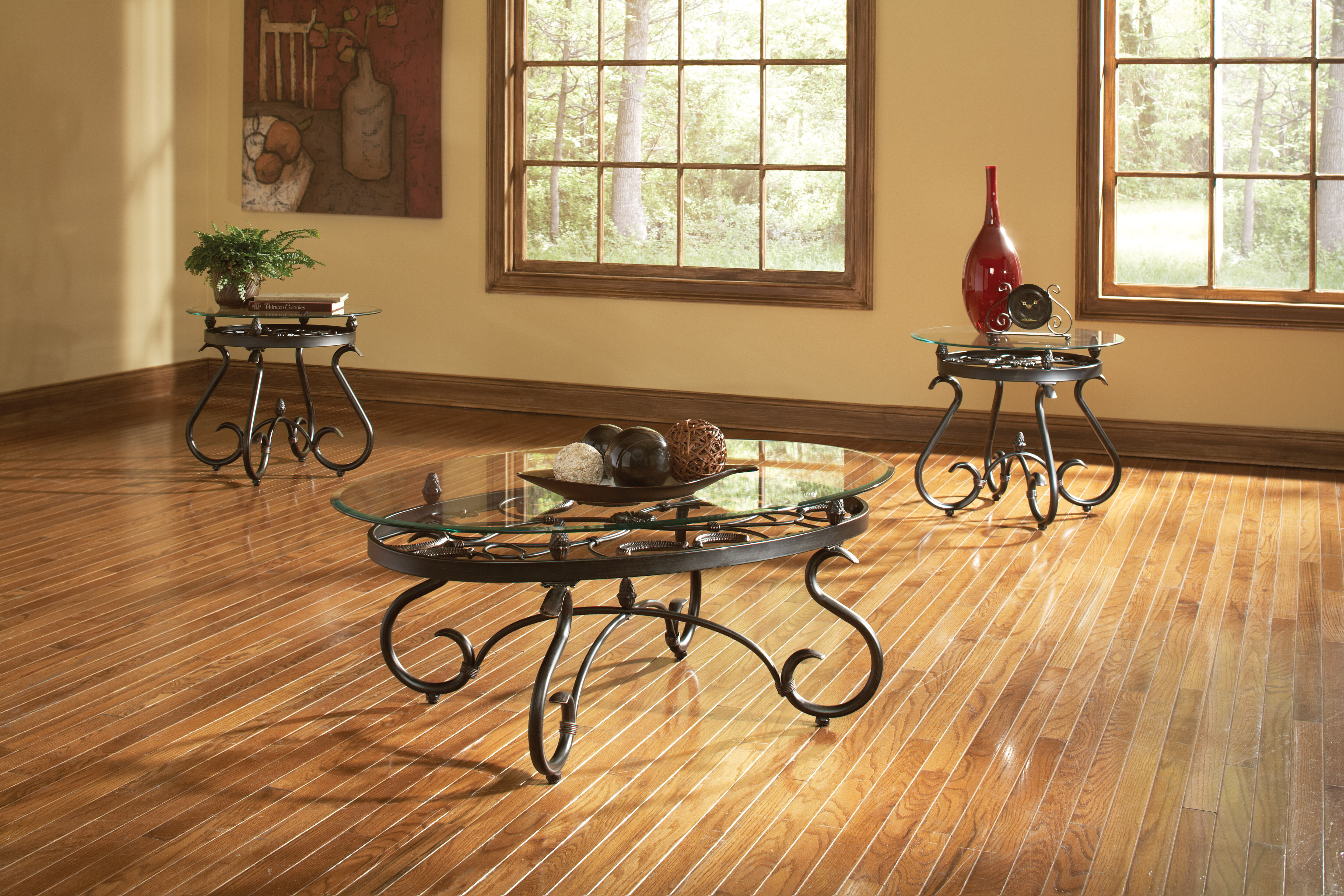 Winston Porter Clausen 3 Piece Coffee Table Set Reviews Wayfair
