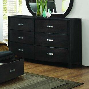Latitude Run Herring 6 Drawer Double Dresser