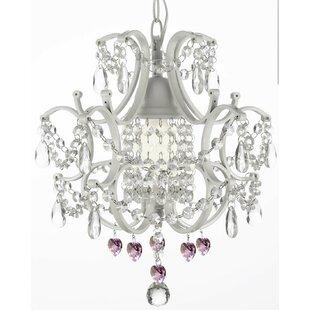 1-Light LED Crystal Pendant by Harrison Lane