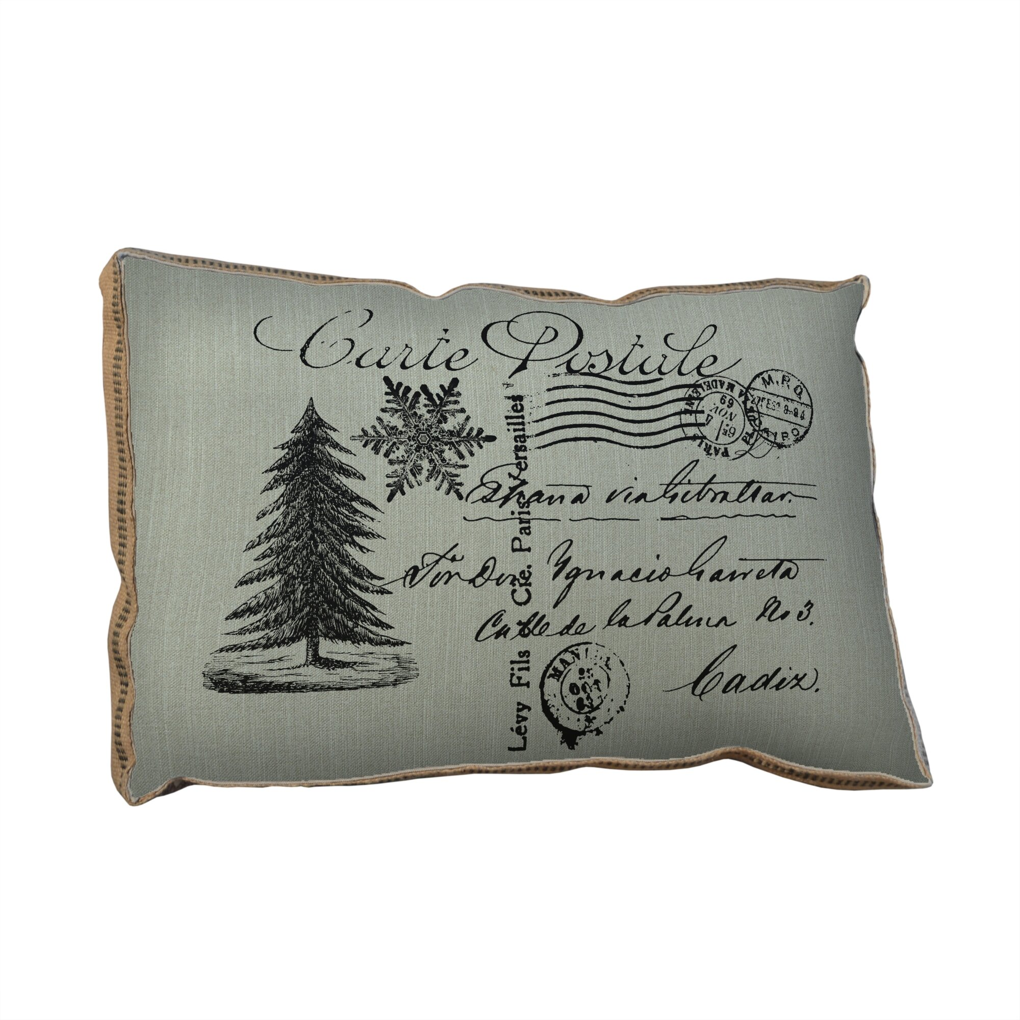 Tapestries Ltd Christmas Tree Postcard Lumbar Pillow Wayfair