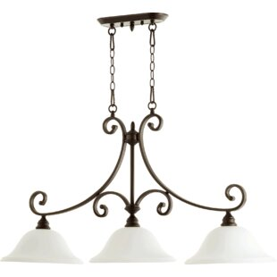 Andover Mills Asheville 3-Light Metal Kitchen Island Pendant