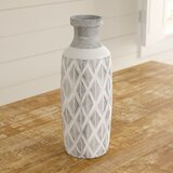 Kingston Traditional Cylindrical Crisscross Table Vase