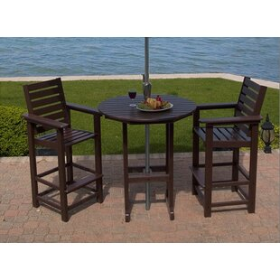Captain 3 Piece Bar Height Dining Set by POLYWOOD® Cheap
