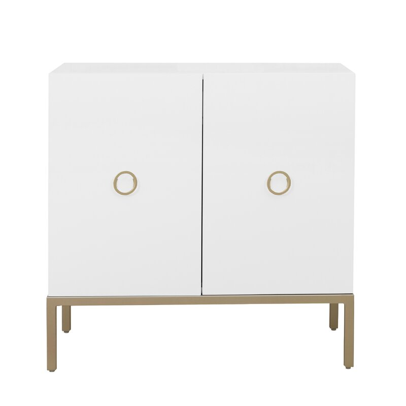 Metal Base Accent Cabinet