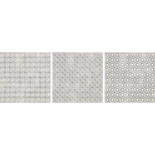 Bargello 8 inch  x 8 inch  Porcelain Field Tile in Beige