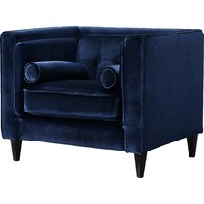 roberta velvet club chair - Blue Velvet Chair