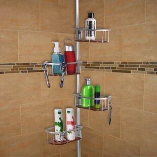 Utopia Alley Teak Tension Rustproof Shower Caddy