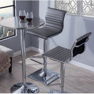 Cadoz Adjustable Height Swivel Bar Stool Wade Logan