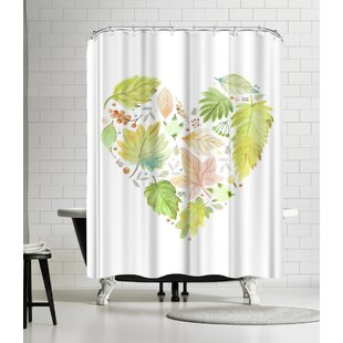Victoria Nelson Leaf Heart Single Shower Curtain