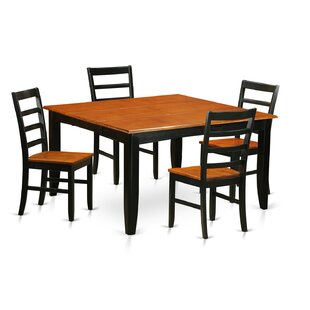 Parfait 5 Piece Dining Set by Wooden Importers Top Reviews