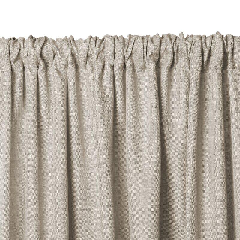 Pennington Solid Sheer Rod Pocket Curtain Panels