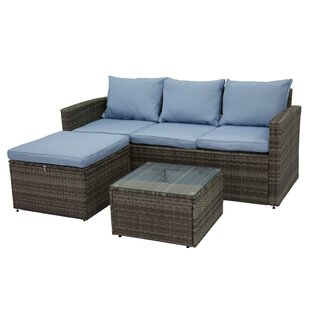 Marisa 3 Piece Rattan Sofa Seating Group