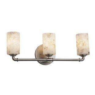 Justice Design Group Alabaster Rocks™ 3-Light Bath Bar