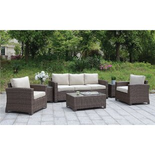 Aydin 6 Piece Rattan Sofa Seating Group with Cushions