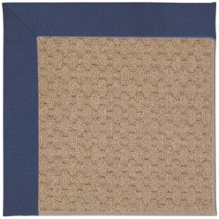 Lisle Machine Tufted Blue/Brown Indoor/Outdoor Area Rug