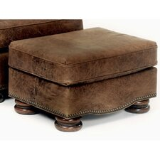 Laredo Leather Ottoman by Bradington-Young