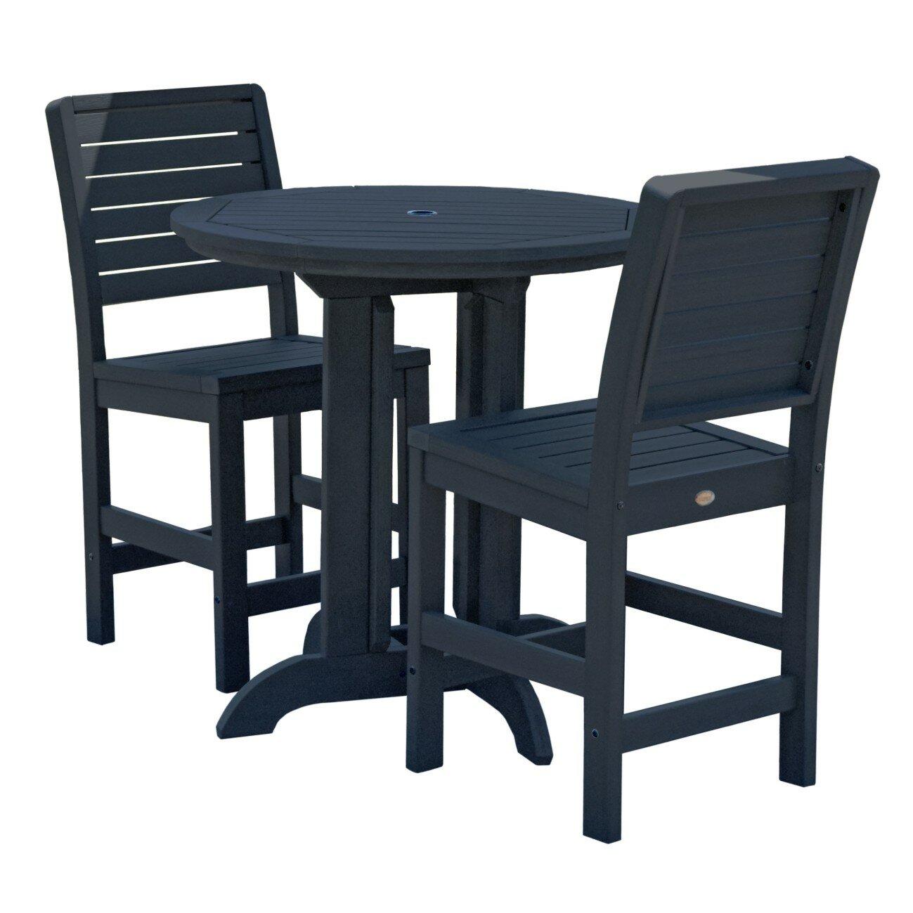 Longshore Tides Deerpark Modern 3 Piece Counter Height Patio Furniture Deals  Toronto Patio Furniture Deals Toronto