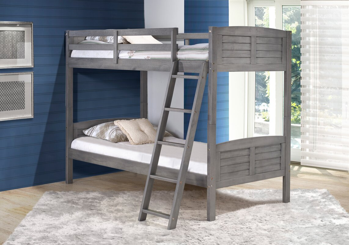 donco kids tree house twin bunk bed & reviews | wayfair
