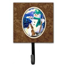 Artist Snowman with Springer Spaniel Wall Hook by Caroline's Treasures