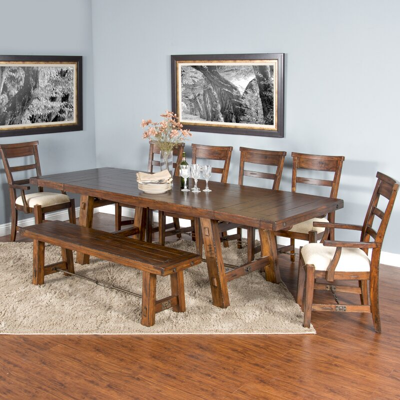 Kentucky Antique Pine Extendable Dining Table And 6 Chairs