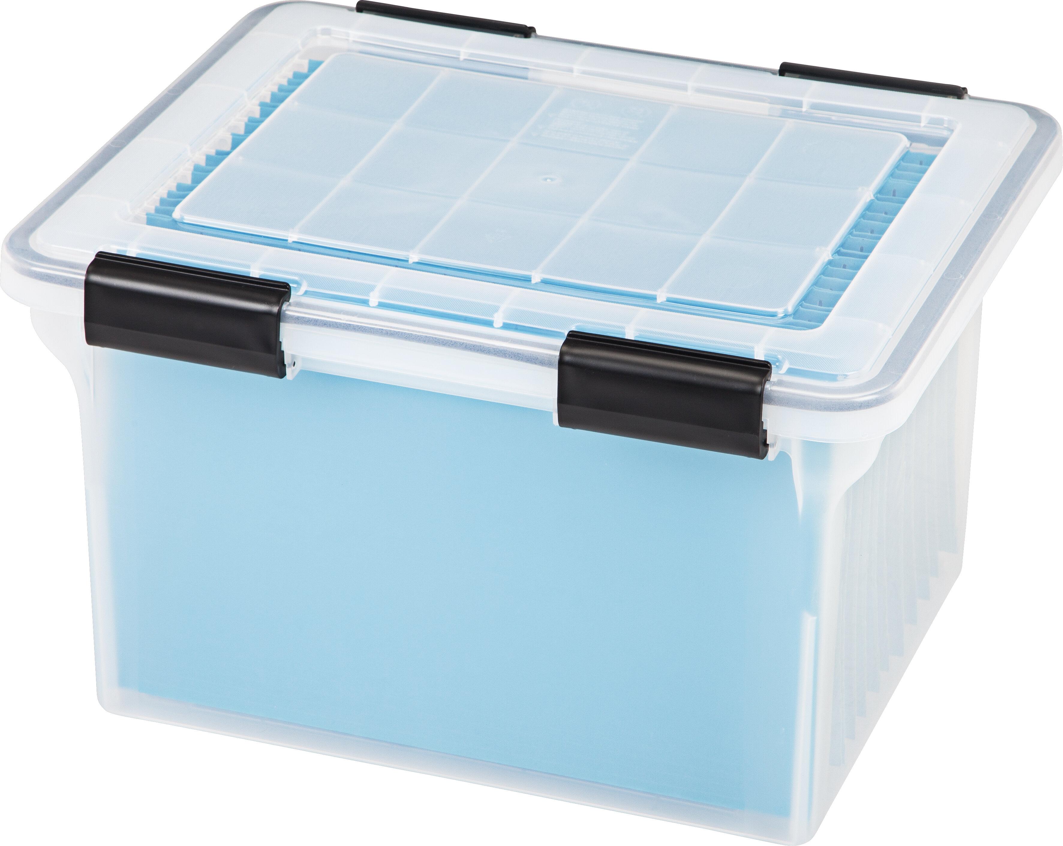 Letter Legal Weathertight Plastic File Box