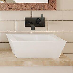 Best Price Kloey Classically Redefined Ceramic Rectangular Vessel Bathroom Sink with Overflow ByDECOLAV