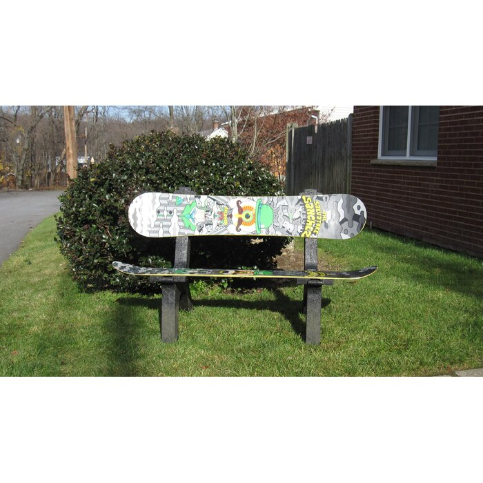 Astounding Snow Board Recycled Plastic Garden Bench Evergreenethics Interior Chair Design Evergreenethicsorg