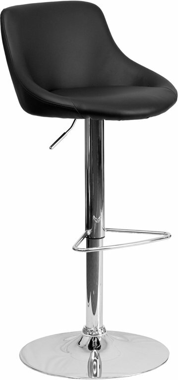 George Oliver Crotty Low Back Adjule Height Swivel Bar Stool