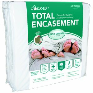 Lock-Up Total Encasement Box Spring Bed Bug Hypoallergenic Waterproof Mattress Protector by JT Eaton