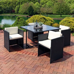 Odea Outdoor 5 Piece Dining Set with Cushions