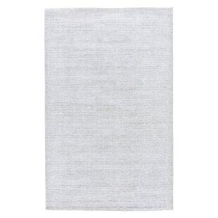 Nico Hand Woven Silk Clic Gray Area Rug