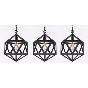 Brayden Studio Paul 1-Light Geometric Pendant (Set of 3)