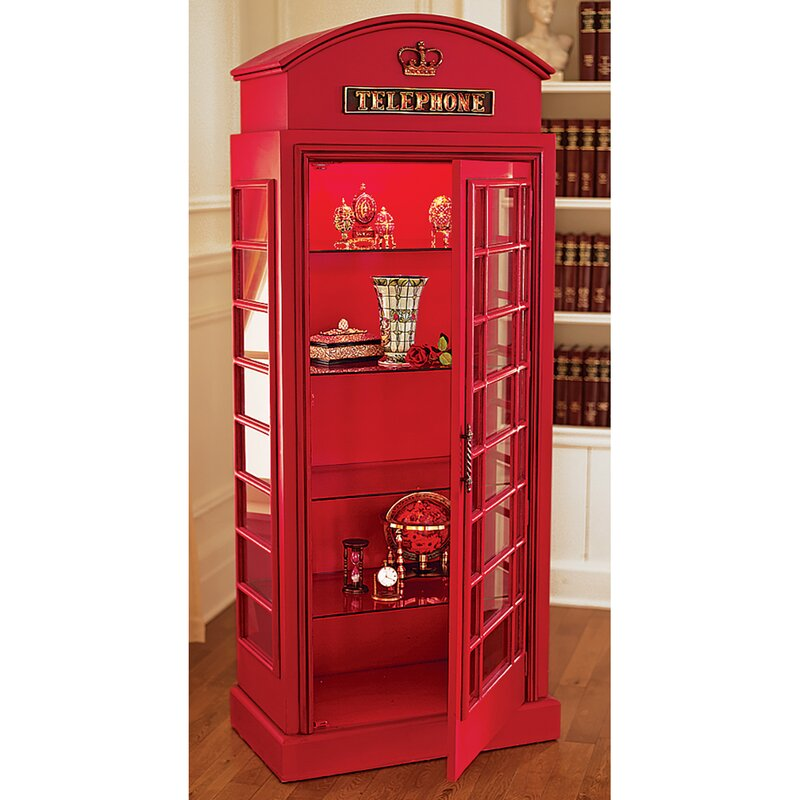 Delicieux British Telephone Booth Display Accent Cabinet