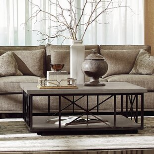 Gracie Oaks Crenshaw Gray Coffee Table