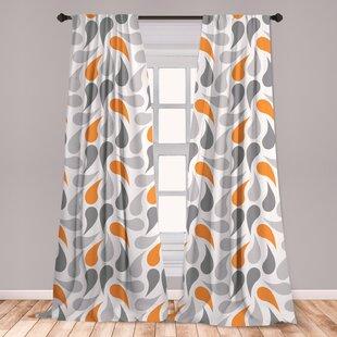 Grey And Yellow Curtains Wayfair