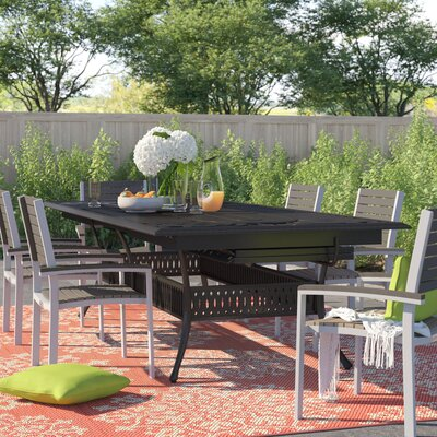 Harland  Extendable Metal Dining Table Sol 72 Outdoor
