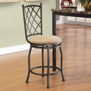 Ludowici 24 Swivel Bar Stool by Winston Porter