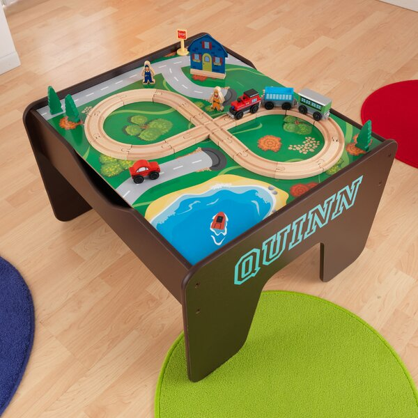 KidKraft Activity 2 In 1 Kids Square Lego/Train Table U0026 Reviews | Wayfair