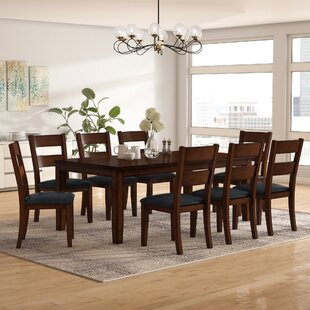 Latitude Run Maliana 9 Piece Extendable Dining Set