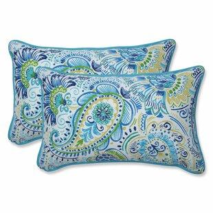 Gilford Baltic Rectangular Indoor/Outdoor Lumbar Pillow (Set of 2)
