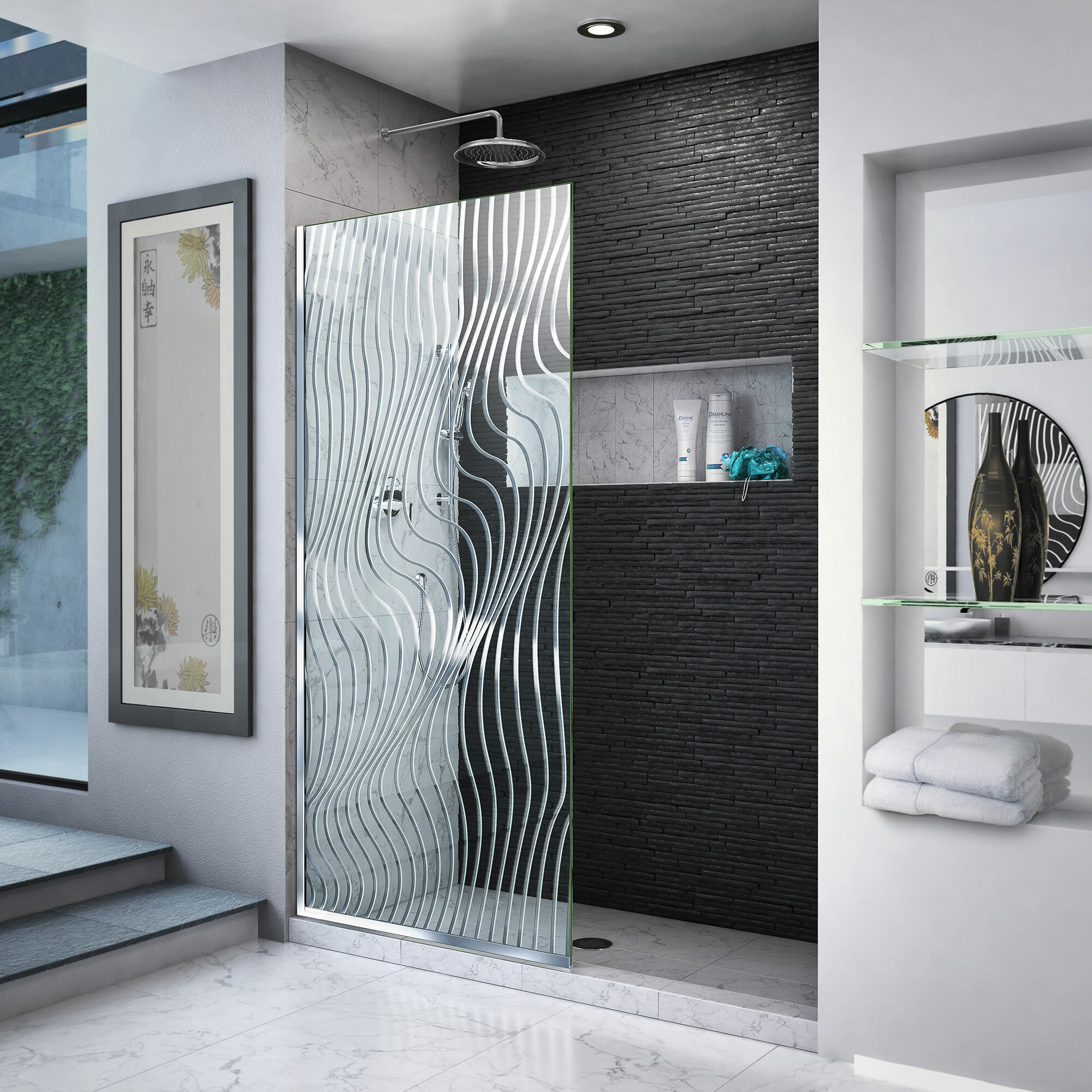 Platinum Linea 34 X 72 Screen Frameless Shower Door With Clearmax Technology