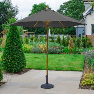 Brussels 2.5m Traditional Parasol By Freeport Park