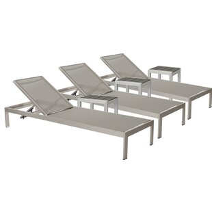 Belterra 3 Chaise Lounge Set with Table