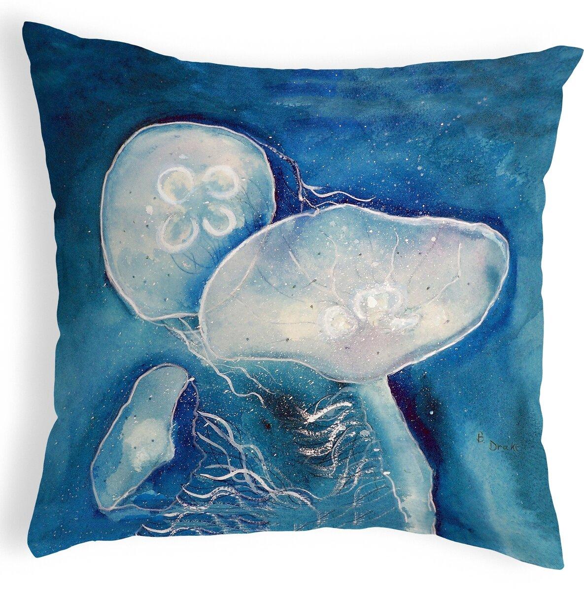 Highland Dunes Kentmere Jellyfish Indoor Outdoor Lumbar Pillow Wayfair
