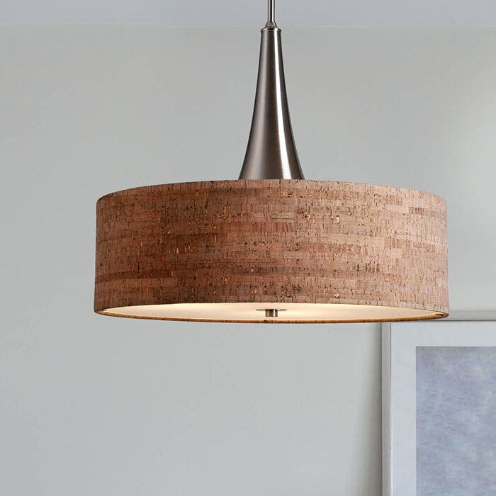 Mercury row haugland 3 light drum pendant reviews wayfair haugland 3 light drum pendant mozeypictures Gallery