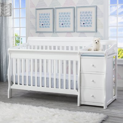 regarding princeton baby white changing in cribs furniture finest sorelle newport crib mini finish table merchandise and view changer convertible gallery with reviews